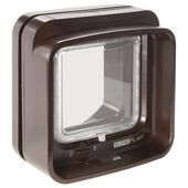 SureFlap DualScan Microchip Cat Flap in Brown
