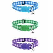 Cat Circus Cat Collar in Gingham Print