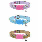 Cat Circus Cat Collar in Vintage Print