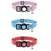 Cat Circus Cat Collar in Glitter Print