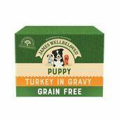 12 x James Wellbeloved Puppy/Junior Dog Food Pouches - Grain Free Turkey 100g