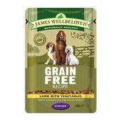 12 x James Wellbeloved Senior Dog Pouches - Grain Free Lamb 100g