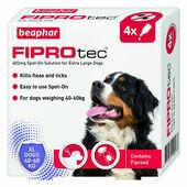 Beaphar FIPROtec Flea & Tick Spot On Extra Large Dog (40-60kg) - 4 Treatments