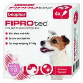 Beaphar FIPROtec Flea & Tick Spot On Small Dog (2-10kg) - 4 Treatments