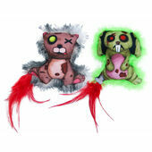 James & Steel Zombie Rabbit/Bear Cat Toy
