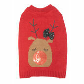 James & Steel Glitzy Reindeer Sweater for Dogs