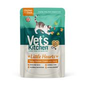 8 x Vet's Kitchen Little Hearts Crunchy Cat Treats Chicken And Duck 60g