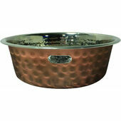 Hound Hammered Antique Copper Finish Pet Bowl
