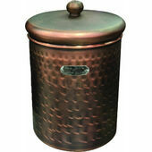Hound Hammered Antique Copper Finish Pet Treat Canister