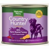 Country Hunter Farm Reared Turkey Wet Dog Food Can