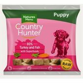 Country Hunter Turkey & Fish Raw Puppy Nuggets