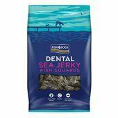 Fish4Dogs Sea Jerky Fish Squares Dental Dog Treats