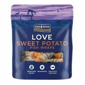Fish4Dogs Sea Wraps Sweet Potato Dog Treats
