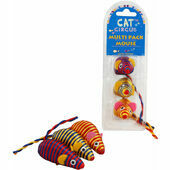 Cat Circus Catnip Mouse Toy (Pack of 3)