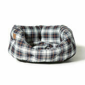 Danish Design Lumberjack White/Navy Deluxe Slumber Dog Bed