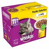 WHISKAS 11+ Cat Pouches Poultry Selection in Jelly 12x100g pk