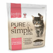 Lovejoys Pure & Simple Kitten Chicken & Salmon Dry Food