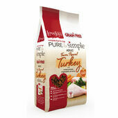 Pure & Simple Adult Grain Free Farm Reared Turkey Dry Dog Food