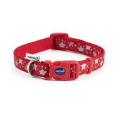 Ancol Fashion Reflective Stars Adjustable Dog Collar Red
