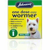 Johnson\'s One Dose Easy Wormer for Dogs - Size 1 (Small Dogs & Puppies up to 6kg) 3 tablets