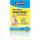 Johnson\'s One Dose Wormer for Cats & Kittens - 2 Tablets