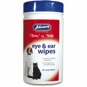 Johnson's Clean 'n' Safe Eye & Ear Wipes 50 Wipes