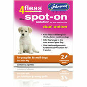 Johnson\'s 4fleas Spot-On Dual Action For Puppies/Dogs - Less than 4kg - 2 Treatments