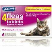 Johnson\'s 4fleas Tablets - Cats and Kittens - 6 Treatments