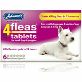 Johnson\'s 4fleas Tablets For Dogs & Puppies - Up to 11kg - 6 Treatments
