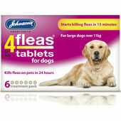 Johnson's 4fleas Tablets For Dogs - Over 11kg - 6 Treatments