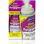 Johnson's 4fleas Dual Action Room Fogger - Twin Pack 2 x 100ml