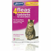 Johnson\'s 4fleas Tablets For Cats and Kittens - 3 Treatments
