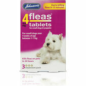 Johnson\'s 4fleas Tablets For Small Dogs and Puppies up to 11kg - 3 Treatments