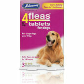 Johnson's 4fleas Tablets For Dogs over 11kg - 3 Treatments