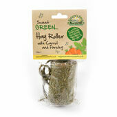 Nature's Own Sweet Green Hay Roller with Carrot and Parsley