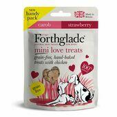 9 x 50g Forthglade Mini Love Hearts Treats Grain Free Hand Baked Treats With Chicken Strawberry & Carob