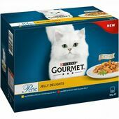 4 x Gourmet Perle Jelly Delights Meat Selection 12x85g