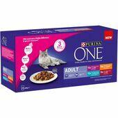 40 x 85g Purina One Adult Cat Mini Fillets In Gravy