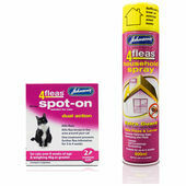 Johnson\'s 4fleas Cat Flea Treatment Bundle (Over 4kg)