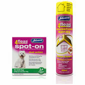 Johnson's 4fleas Dog Flea Treatment Bundle (Small Dogs 4 - 10kg)