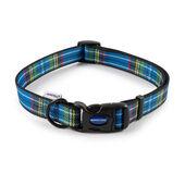Ancol Heritage Adjustable Dog Collar Tartan Blue