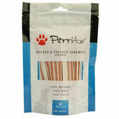 Perrito 100% Chicken & Pollock Sandwich Dog Snacks 100g