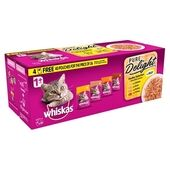 Whiskas 1+ Cat Pouches Pure Delight Poultry Selection In Jelly 40 For 36 x 85g Mega Pack