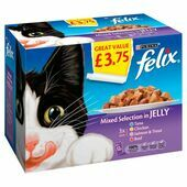 Felix Pouch Mixed Selection In Jelly 12 Pack 100g