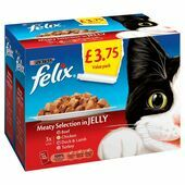 Felix Pouch Meaty Selection In Jelly 12 Pack 100g