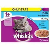 Whiskas Pouch Fish 12 Pack 100g