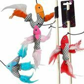 Hemm & Boo Fish Teaser Stick Cat Toy