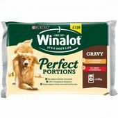 WINALOT Perfect Portions Dog Food Mixed in Gravy 4x100g