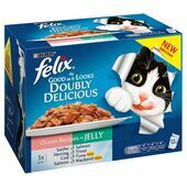 Felix Doubly Delicious Ocean Recipes in Jelly 12 Pack 100g