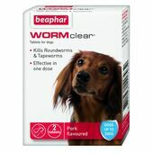 WORMclear Dog Up To 20kg 2 Tablets